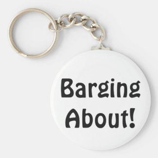 Barging About Keychain