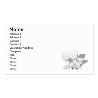 BarGlassesCard, Name, Address 1, Address 2, Con... Business Card Templates