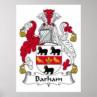 Barham Family Crest Poster