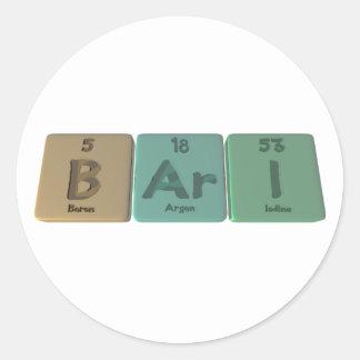Bari as Boron Argon Iodine Sticker