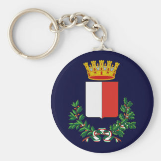 Bari Basic Round Button Keychain