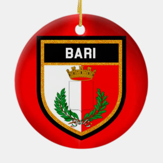 Bari Flag Ceramic Ornament