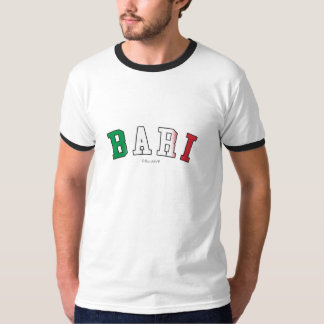 Bari in Italy national flag colors T-Shirt