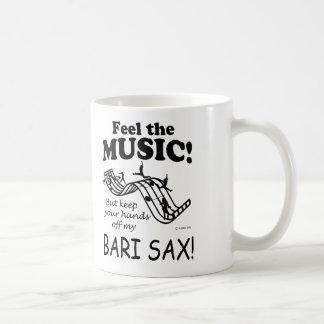 Bari Sax Feel The Music Coffee Mug
