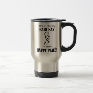 Bari Sax Happy Place 15 Oz Stainless Steel Travel Mug