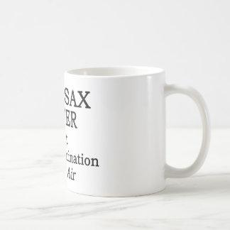 Bari Sax Hot Air Classic White Coffee Mug