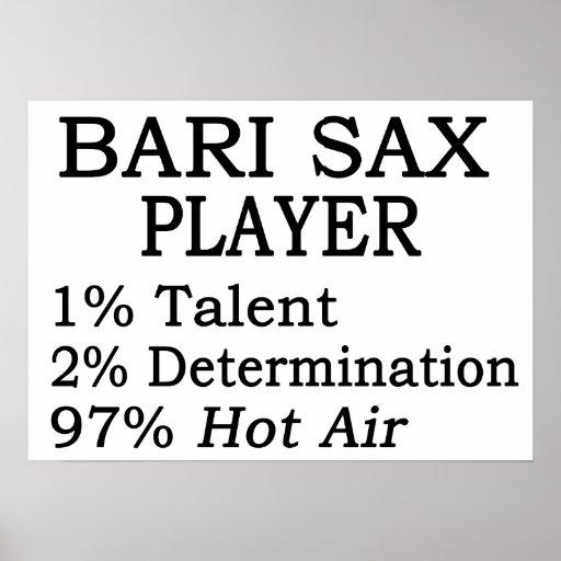 Bari Sax Hot Air Posters