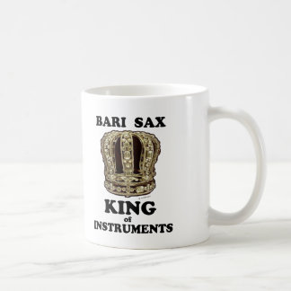 Bari Sax King of Instruments Coffee Mug