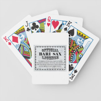 Bari Sax License Bicycle Playing Cards