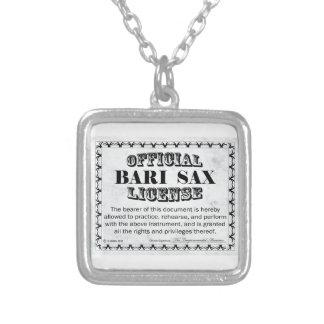 Bari Sax License Silver Plated Necklace
