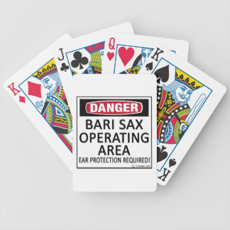 Bari Sax Operating Area Bicycle Playing Cards