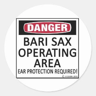 Bari Sax Operating Area Round Stickers