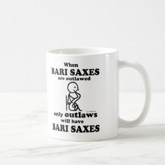 Bari Saxes Outlawed Classic White Coffee Mug