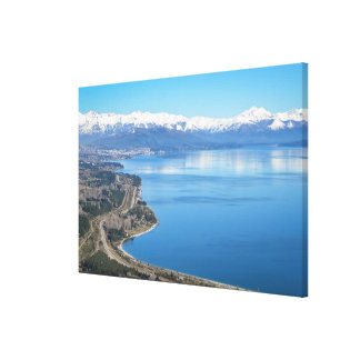 Bariloche Aerial View In Winter Canvas Print