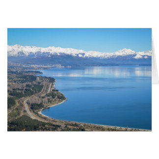 Bariloche Aerial View In Winter Card