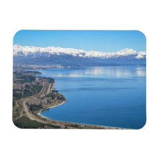 Bariloche Aerial View In Winter Magnet