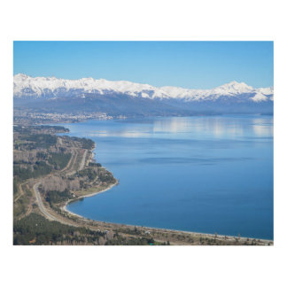 Bariloche Aerial View In Winter Panel Wall Art