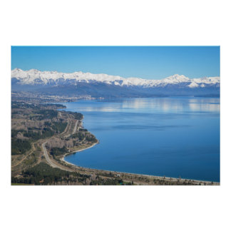 Bariloche Aerial View In Winter Poster
