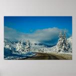 Bariloche, camino a la estación de esquí póster