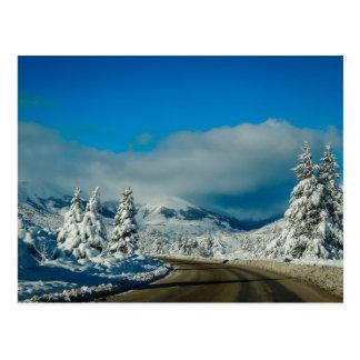 Bariloche, camino a la estación de esquí tarjetas postales