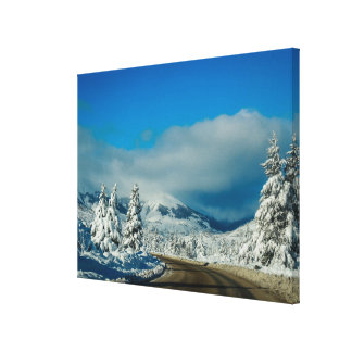Bariloche, Road To Ski Resort Canvas Print