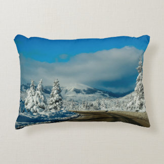 Bariloche, Road To Ski Resort Decorative Pillow