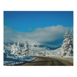 Bariloche, Road To Ski Resort Panel Wall Art