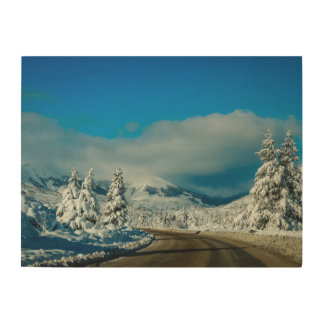 Bariloche, Road To Ski Resort Wood Print