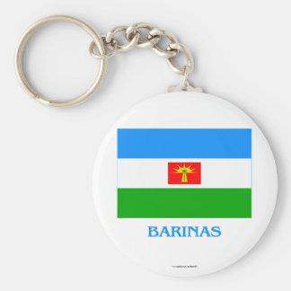 Barinas Flag with Name Keychain
