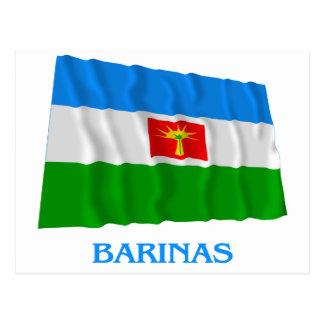 Barinas Waving Flag with Name Postcard