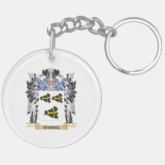 Baring Coat of Arms - Family Crest Double-Sided Round Acrylic Keychain
