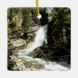 Baring Falls at Glacier National Park Ceramic Ornament