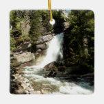 Baring Falls at Glacier National Park Ceramic Ornament