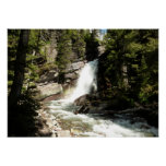 Baring Falls at Glacier National Park Poster