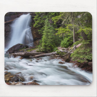 Baring Falls in Glacier National Park, Montana Mouse Pad