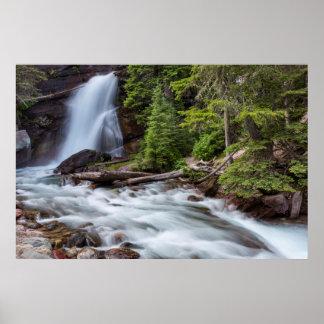 Baring Falls in Glacier National Park, Montana Poster