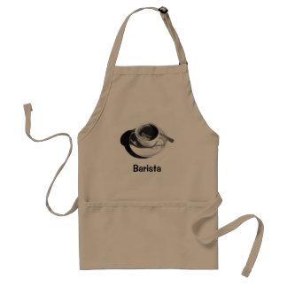 BARISTA APRON: PENCIL DRAWING, COFFEE CUP