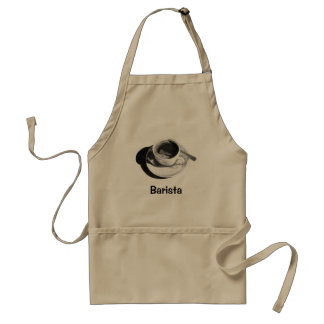 BARISTA APRON: PENCIL DRAWING, COFFEE CUP ADULT APRON