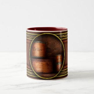 Barista - café - café y especia taza de dos tonos
