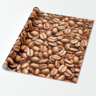 Barista Coffeehouse Shop Coffee Beans Pattern Wrapping Paper