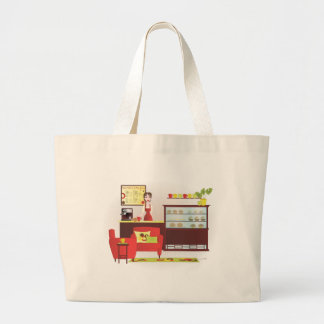 Barista-Custom Changes Large Tote Bag