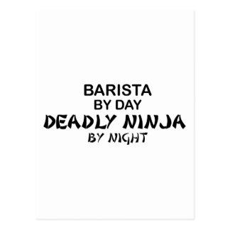 Barista Deadly Ninja Postcard