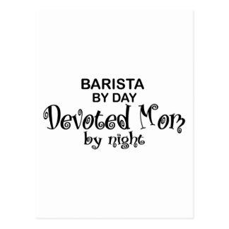 Barista Devoted Mom Postcard