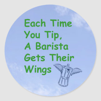 Barista gets wings sticker