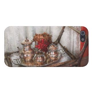 Barista - juego de té - té de la mañana iPhone 5 cárcasa