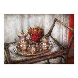 Barista - juego de té - té de la mañana invitación 12,7 x 17,8 cm