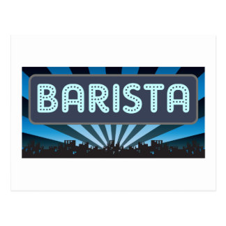 Barista Marquee Postcard
