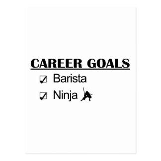 Barista Ninja Career Goals Postcard