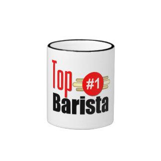 Barista superior taza de café