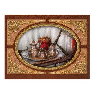 Barista - Tea Set - Morning tea Postcard